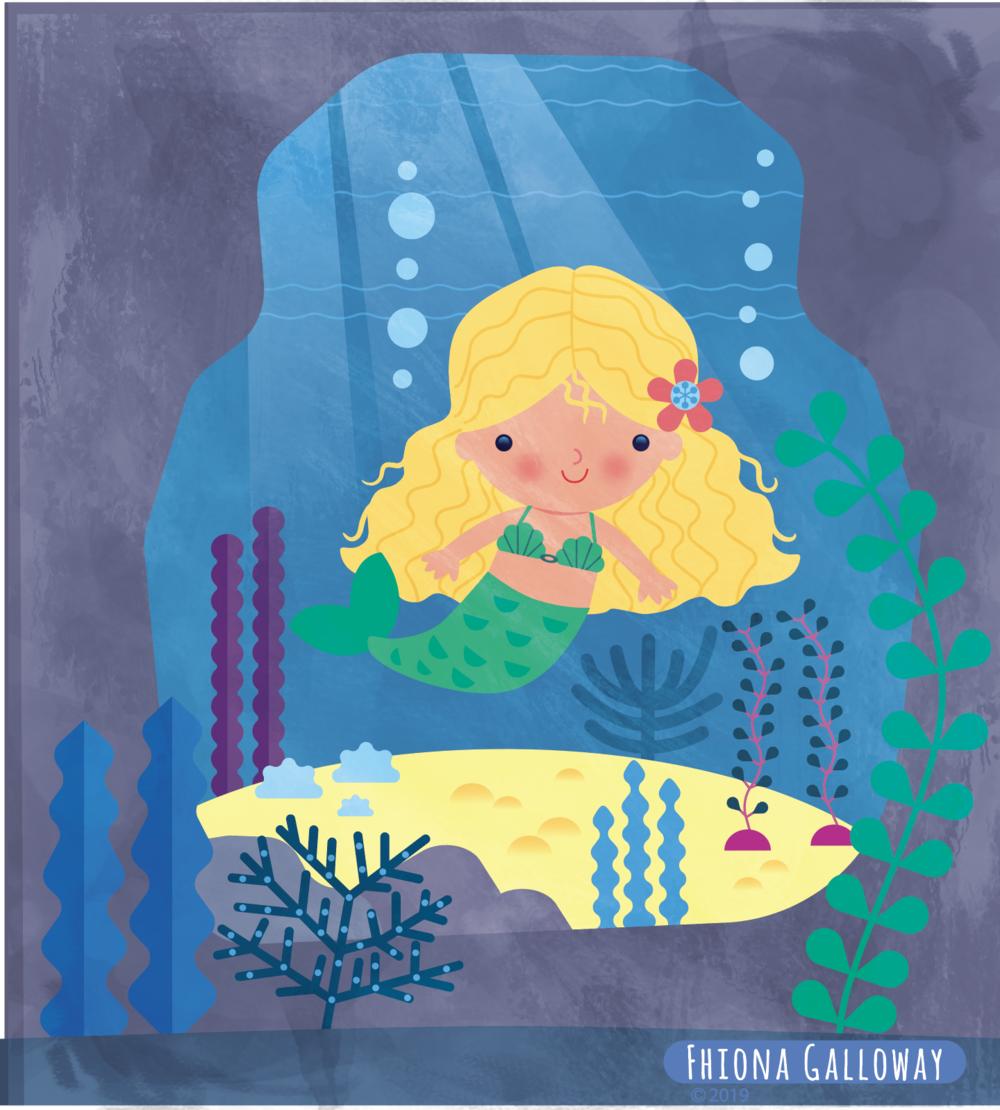 Self initiated illustration of Mermaid