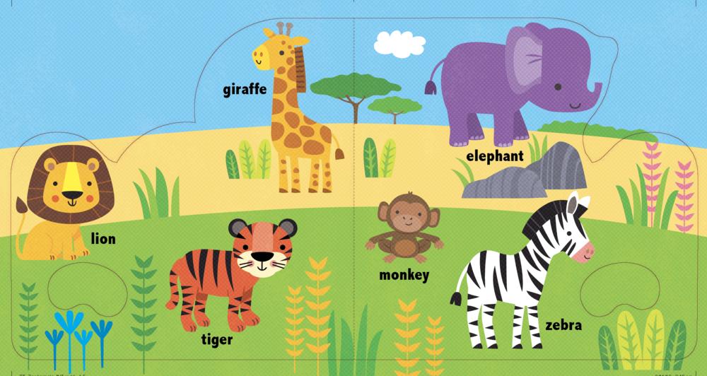 Jungle spread for book