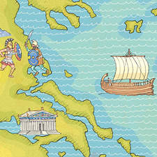 Map of Ancient Greece.