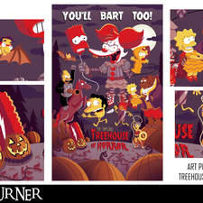 """An alternative fan-art poster I designed based off the series """"The Simpsons: Treehouse of Horrors"""""""