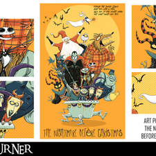 """An alternative fan-art poster to the animated film """"The Nightmare Before Christmas"""""""