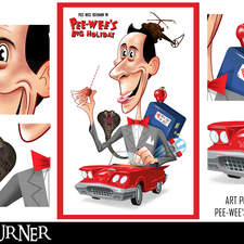 """An alternative fan-art poster to the film """"Pee Wee's Big Holiday"""""""