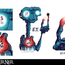"""An alternative fan-art poster to the film """"E.T. the Extra-Terrestrial"""""""