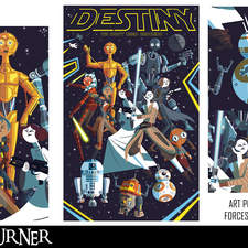 """An alternative fan-art tribute poster to the woman and droids of """"Star Wars"""""""