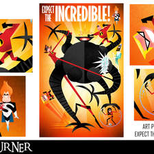 """An alternative fan-art poster to the animated films """"The Incredibles"""""""