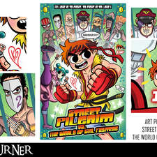 """An alternative mashup fan-art poster to the comic """"Scott Pilgrim"""" and the video game """"Street Fighter"""""""