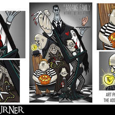 """An alternative fan-art poster to the film """"The Addams Family"""""""