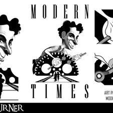 """An alternative fan-art poster to the silent film """"Modern Times"""""""