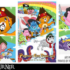 """An alternative mashup fan-art poster to the animated series """"Care Bears"""" and the film franchise """"Pirates of the Caribbean"""""""