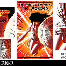 "An alternative fan-art poster to the film ""Wonder Woman"""