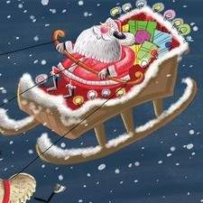 Santa and some Reindeer