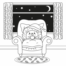 Kawaii Hedgehog having a night cap