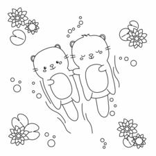 Kawaii Otters