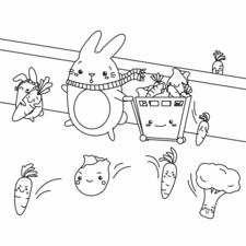 Kawaii Bunnies shopping