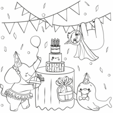Kawaii animal party