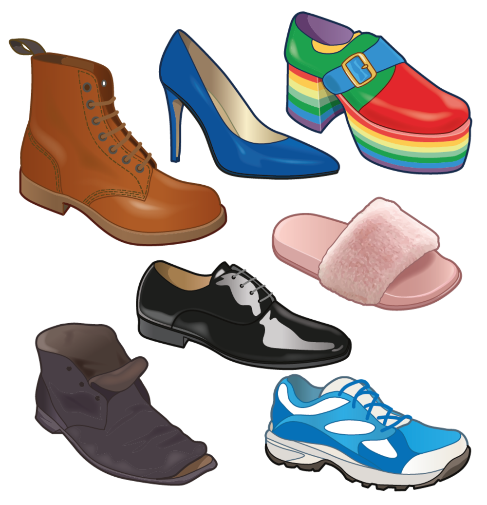 Selection of footwear