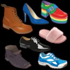 Selection of footwear