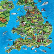 Uk Jigsaw Map