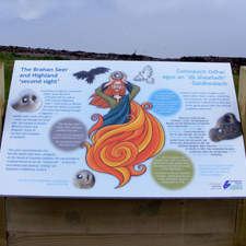 Chanonry Point Tourist Board in the Scottish Highlands, Fortrose (2016)