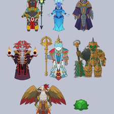 RuneFest chibi gods badge designs for charity SpecialEffects (2019)