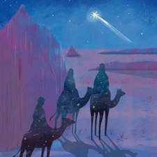 Illustration for Avianca Magazine about the Three wise men