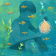 Illustration for Norma editorial about a story of a golden fish
