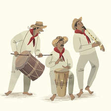Illustration about Colombian culture
