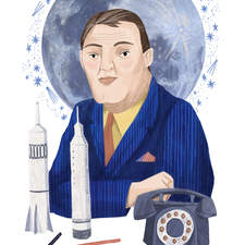Von Braun Portrait for Honest History Magazine