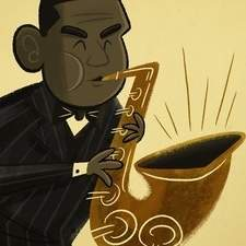 John Coltrane fan art.