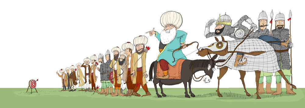 Nasreddin Hoca has proved that he can hit the bulls eye (BIG fluke)