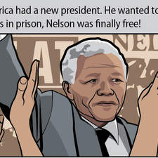 Nelson Mandela comic, for Richmond Keep it Real