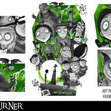 Alternative Fan Art Movie Poster for the stop motion film Frankenweenie