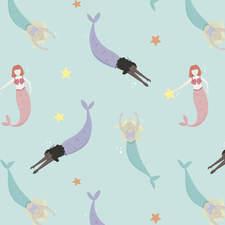 Mermaid print for kids clothing - Personal Work