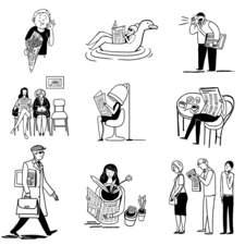 Vignettes for readers' section of main Argentine newspaper La Nación.