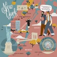 New York, New York - map