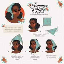 Summer Style - headscarf tutorial