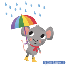 Mouse with umbrella