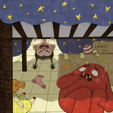 """Monsters under the bed"" – Illustration for a contest"