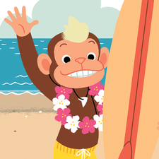 Surfer Chimp - Maverick Early Readers