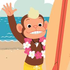 Surfer Chimp
