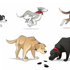 Freelance work - Dog Illustrations (2020)