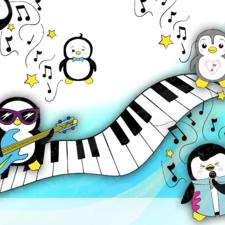 Kawaii Penguin Rock Band