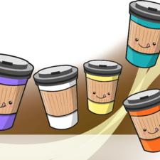 Kawaii Coffee Cups