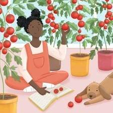 Personal Work - two children learning how to from tomato plants.