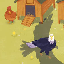 The Chicken and the Eagle - an illustration for Very Tales