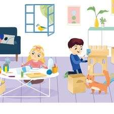 illustration from English Language Learning book (client: Collins)