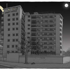 An image from a sequence commissioned to tell the biblical story of the resurrection, but set in modern-day Leeds.