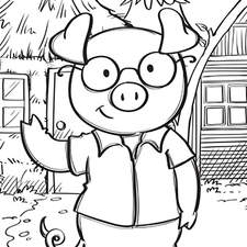Artwork for the Complete Comprehension Series for Schofield and Sims- The Three Little Pigs