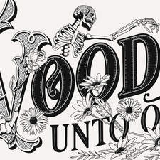Voodoo Unto Others: a typographic illustration for a t-shirt design.