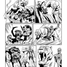 Page from a Spiderman comic strip drawn for partwork publisher Eaglemoss